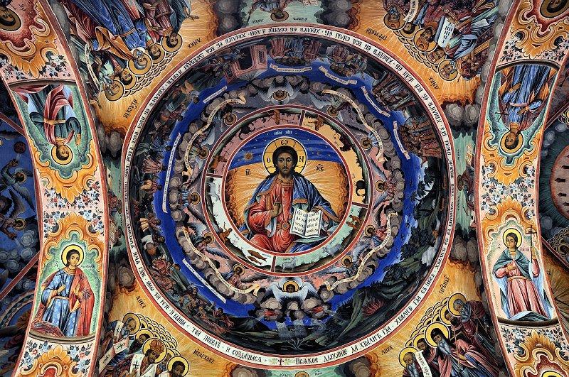 Malby v Rilském monastýru