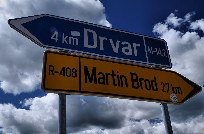 Směr Drvar.