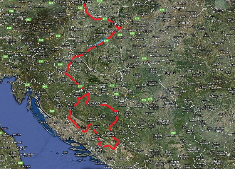 Mapa cesty.