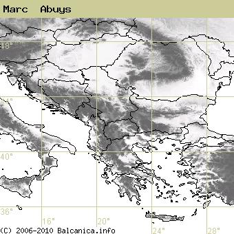 Marc  Abuys, obsazené kvadráty podle mapování Balcanica.info