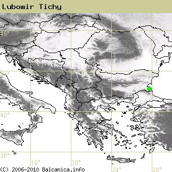 Lubomir Tichy, obsazené kvadráty podle mapování Balcanica.info