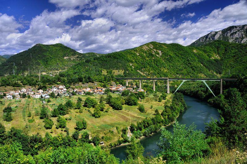 Malebná krajina Jablanice.