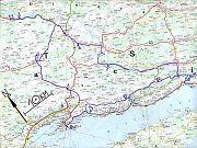 mapa středního Chorvatska
